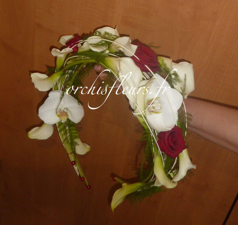 Bouquet de mariée Création Bouquets  Fleuriste ORCHIS fleuriste Bois d'Arcy 78390  # Fleuriste Bois D Arcy