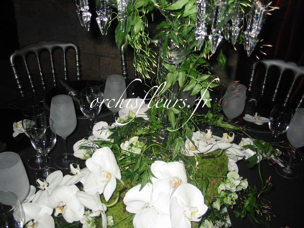 Fleuriste Bois D Arcy - Centres de tables Hauteurs Nos créations Centres de tables  Fleuriste ORCHIS