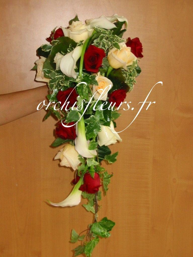 """Bouquet de mariée"""" Chute"""" Bouquets  Fleuriste ORCHIS fleuriste Bois d'Arcy 78390  # Fleuriste Bois D Arcy"""