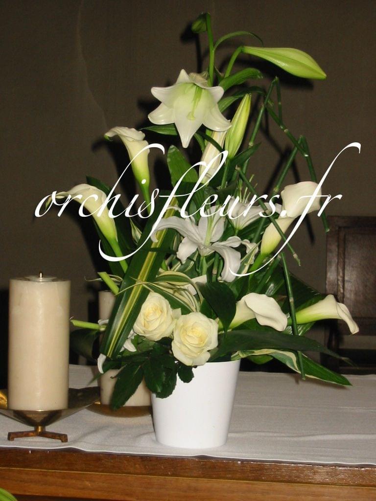 Mariageéglise Mariage  Fleuriste ORCHIS fleuriste Bois d'Arcy 78390 Compositions et  # Fleuriste Bois D Arcy