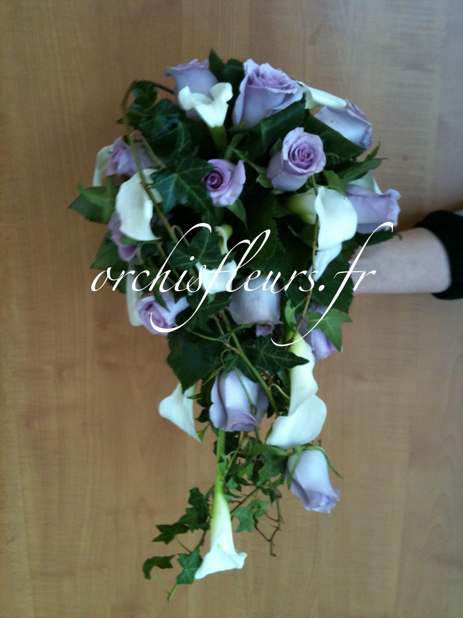 """Bouquets de Mariée"""" demi chute"""" Bouquets  Fleuriste ORCHIS fleuriste Bois d'Arcy  # Fleuriste Bois D Arcy"""