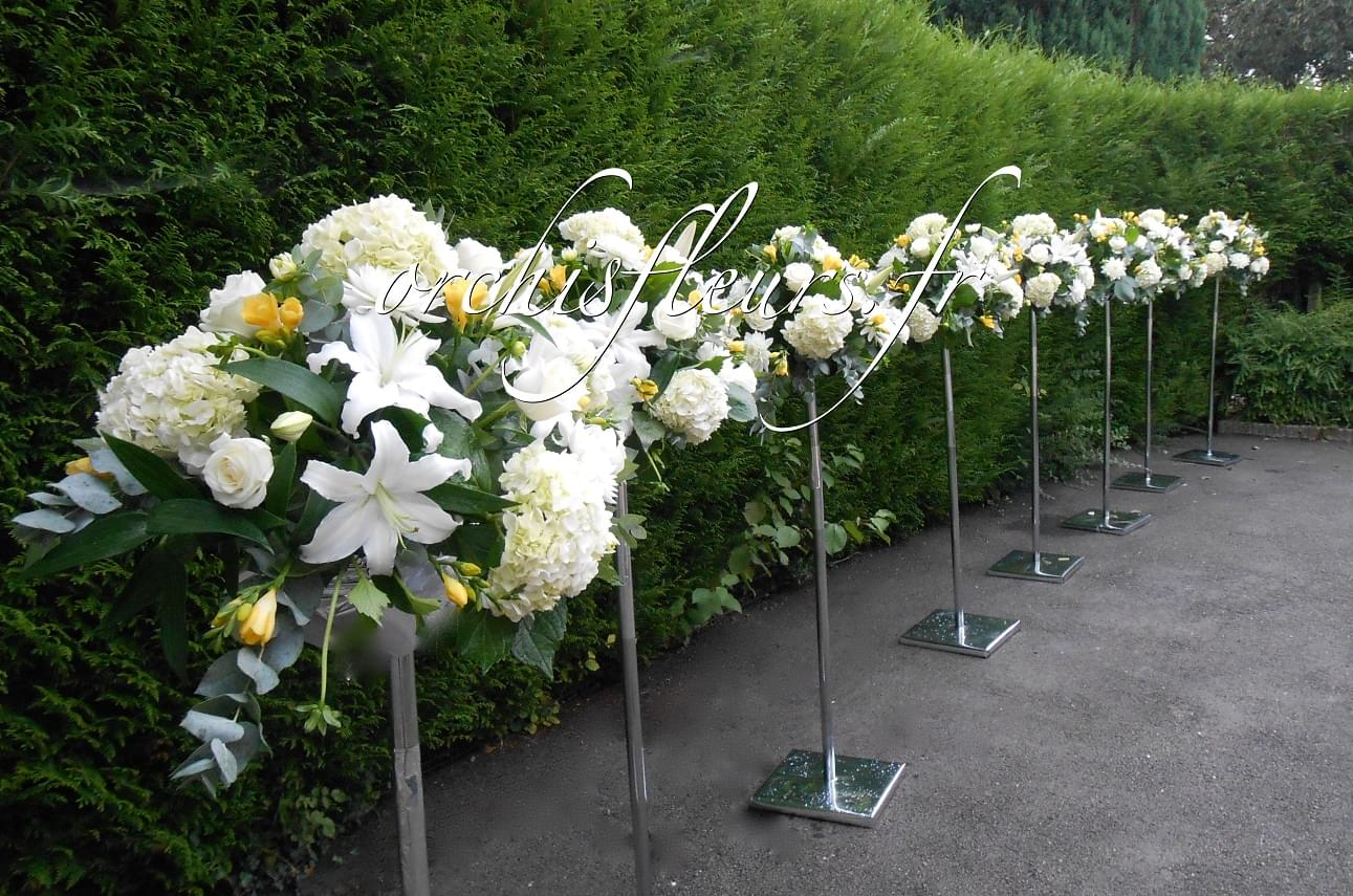 Centres de tables Hauteurs Nos créations Centres de tables  Fleuriste ORCHIS  # Fleuriste Bois D Arcy