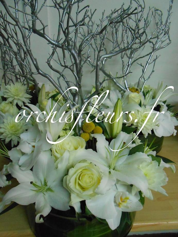 Centres de tables Ronds Nos créations Centres de tables  Fleuriste ORCHIS fleuriste  # Fleuriste Bois D Arcy